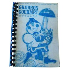 Gridiron Gourmet Cook Book by the American Football League Womens Association - Sports Cookbook