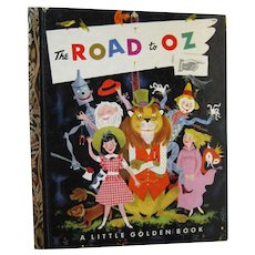 The Road To Oz Little Golden Book by L Frank Baum Illustrated by Harry McNaught - LGB Library - Childrens Library - Wizard of Oz