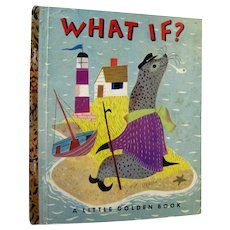 What If First Edition Little Golden Book by Helen Tanous Illustrated by J P Miller - LGB 1st Edition - Read Aloud Book - Childrens Library
