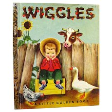 Wiggles First Edition Little Golden Book Illustrated by Eloise Wilkin and Written by Louise Woodcock - Color Illustrations - LGB 1st Edition
