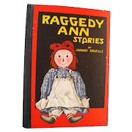 Early Edition Raggedy Ann Stories by Johnny Gruelle Vintage Childrens Book - Childrens Library - Classic Childrens Literature - Juvenile Library