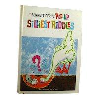 Bennett Cerfs Pop Up Silliest Riddles - Childrens Book - Vintage Pop Up Childrens Book - Riddle Book