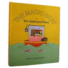 RARE Pop Up Book The Magic Boat By Tom Seidmann-Freud - Sigmand Freuds Neice - Childrens Book - Out Of Print Vintage Pop Up Childrens Book - Red Tag Sale Item