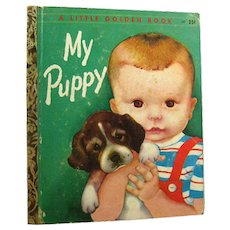 My Puppy Little Golden Book Illustrated by Eloise Wilkin - LGB Library - Childrens Library - Early Childhood Book - Childrens Literature