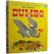 Walt Disney Dumbo Little Golden Book - LGB Library - Childrens Library - Early Childhood Book - Childrens Literature