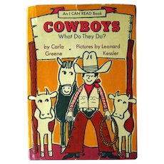 Cowboys What Do They Do Vintage Childrens Book - I Can Read Book - Early Reader - Leonard Kessler - Western Book