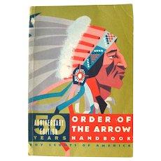 Order Of The Arrow Handbook 50th Anniversary Edition - Boy Scout Handbook - Vintage Boy Scout Book - 1960s Boy Scout Hand Book