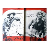 Duel In The Sun Motion Picture Book With Photo Stills of Movie With Gregory Peck and Jennifer Jones