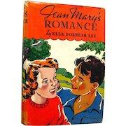 Jean Mary Series Book Jean Marys Romance - Vintage Childrens Series Book -Gift Book - 1930s Jean Mary