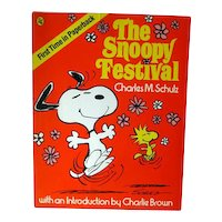 The Snoopy Festival First Edition Paperback by Charles Schultz - Comic Strip Book - Book Lovers Gift - Animation Art