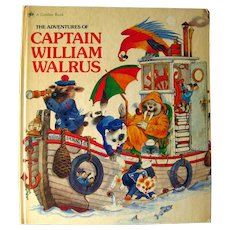 The Adventures of Captain William Walrus Vintage Kids Book - Gift for Kids - Kids Room - Collectors Books