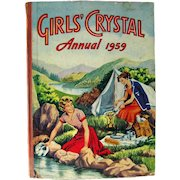Girls Crystal Annual 1959 Graphic Novel Collection For Girls - Graphic Novels For Teens - Girl Reading Book - Novels for Kids