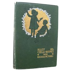 Riley Child Rhymes With Hoosier Pictures - Antiquarian Book - Collectors Book - Book Design - Childrens Illustrations - Will Vawter