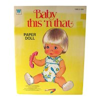 BABY THIS N THAT Vintage Uncut Paper Dolls - Collectible Paperdolls