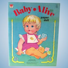 Vintage Paper Dolls - BABY ALIVE - Whitman Paper Dolls -