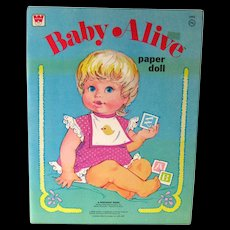 Vintage Paper Dolls - BABY ALIVE - Whitman Paper Dolls -