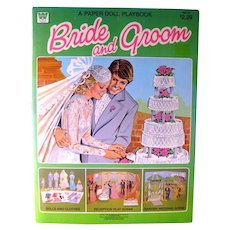 BRIDE AND GROOM Vintage Paper Dolls - Wedding Paper Dolls - Wedding Shower