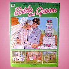 BRIDE AND GROOM Vintage Paper Dolls - Wedding Paper Dolls - Wedding Shower