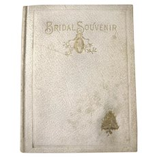 The Bridal Souvenir - Antique Wedding Book - Wedding Gift Book