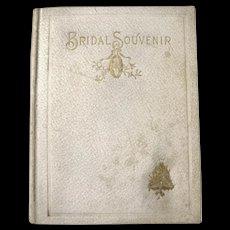 The Bridal Souvenir - Antique Wedding Book - Wedding Gift Book