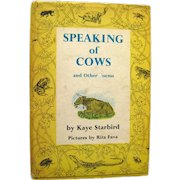 Childs Poetry Book SPEAKING OF COWS - Kids Poems - Out of Print Book