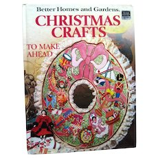 Vintage Christmas Crafting Book by Better Homes And Gardens - Christmas Crafts - Holiday Decor - Christmas Decorations - Pattern Book