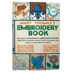 Mary Thomas Embroidery Book - Vintage Sewing Book