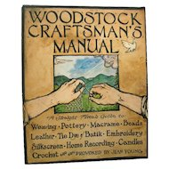 Woodstock Craftsmans Manual 1st Edition - Vintage Craft Book