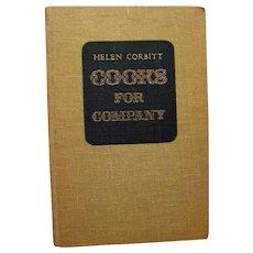 Celebrity Cookbook - Helen Corbitt Cooks For Company - Vintage Recipe Book - Vintage Entertaining Book