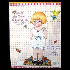 Mary Engelbreit Paper Doll Ann Estelle - Uncut Paper Dolls - Vintage Dolls