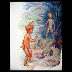 The Water Babies Vintage Childrens Book - Storytime Book - Harry G Theaker Illustrator - RARE Kids Books