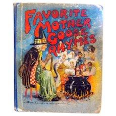Favorite Mother Goose Rhymes Vintage Childrens Book - Vintage Nursery Rhymes