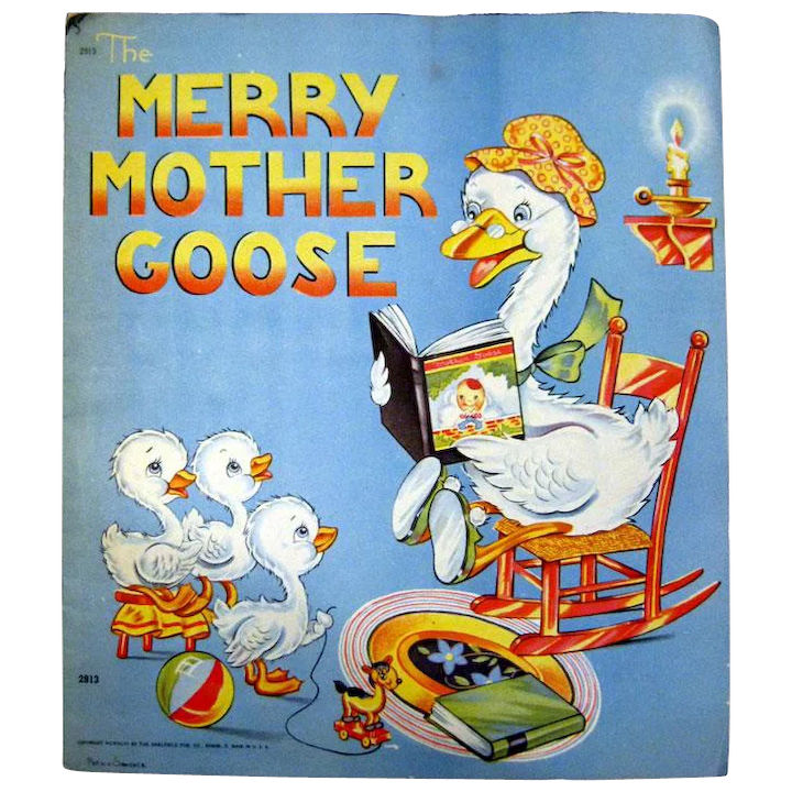 Saalfield Publishing The Merry Mother Goose Nursery Decor Vintage Openslate Collectibles Ruby Lane