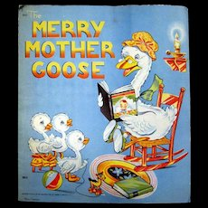 Saalfield Publishing The Merry Mother Goose - Nursery Decor - Vintage Nursery Rhymes
