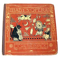 The Babys Opera Antique Childrens Book - Collectible Books - Kids Music Book