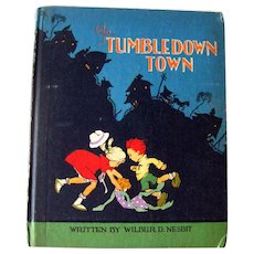 RARE Childrens Book In Tumbledown Town Illustrations by Johnny Gruelle - Collectible Childrens Literature