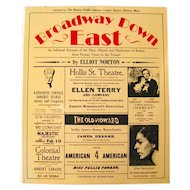 Boston Theater History Book BROADWAY DOWN EAST Vintage Theatrical History