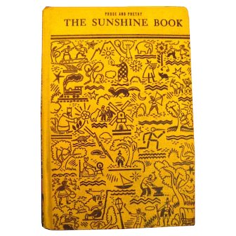 Vintage Poetry and Prose Book THE SUNSHINE BOOK With Artwork and Illustrations