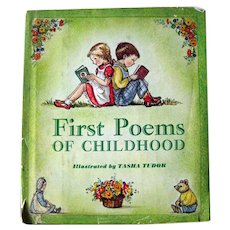 Tasha Tudor First Poems Of Childhood Rare 1st Edition Kids Book