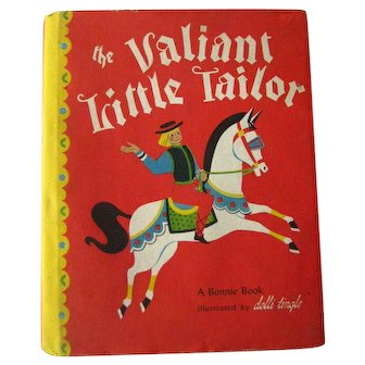 Dolli Tingle Book The Valiant Little Tailor A Bonnie Book Vintage Kids Books