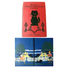 RARE Vintage Book The Cat Whose Whiskers Slipped And Other Stories Illustrated by Ve Elizabeth Cadie
