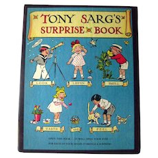 Surprise Book For Each Of Your Senses By Tony Sarg Interactive Book Vintage Kids Books