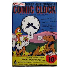 Vintage Ephemera Dime Store Toy Comic Clock - Vintage Funny Papers - Paper Toy