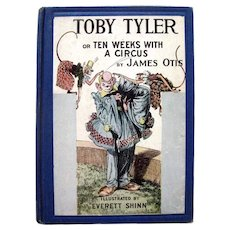 TOBY TYLER Or Ten Week With A Circus - Vintage Childrens Book - Illustrated Kids Books