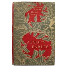 Classic Childrens Book AESOPS FABLES Illustrated by Robert Lawson - Childrens Literature - Collectible Book
