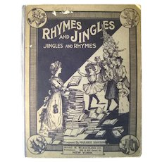 Vintage Music Book Rhymes and Jingles Jingles and Rhymes Nursery Rhyme Musical Book