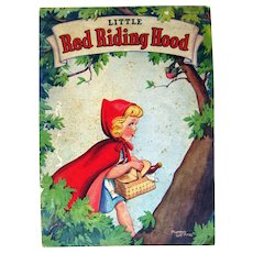 Whitman Linen Book LITTLE RED RIDING HOOD Children Book Classic Kids Book