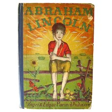 Abraham Lincoln First Edition Childrens Book by Caldecott Winners Ingri and Edgar Parin dAulaire