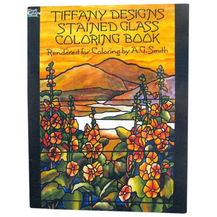 Tiffany Designs Stained Glass Coloring Book Art Book Coloring Book ...
