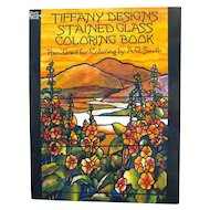 Tiffany Designs Stained Glass Coloring Book Art Book Coloring Book For Adults